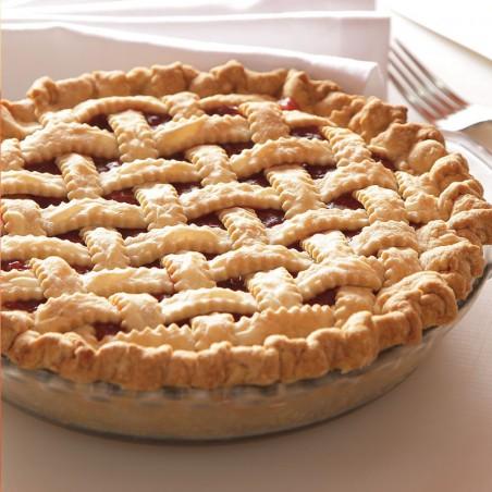 Bourbon Sour Cherry Lattice Pie