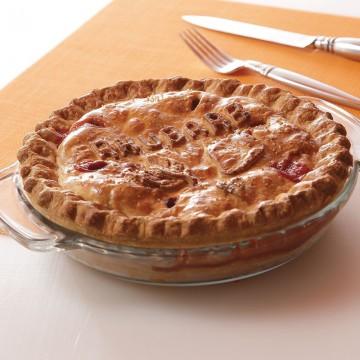 Ruby Red Raspberry Rhubarb Pie