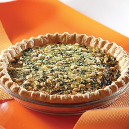 Spinach & Pignoli Nut Quiche