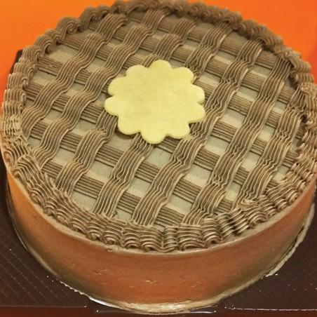 Dark Chocolate Butter Cream Frosting Cake
