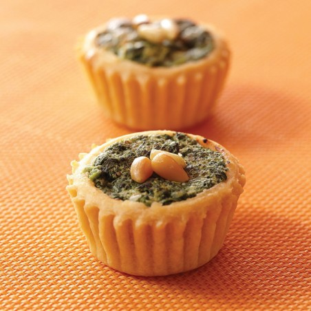 Spinach & Pignoli Nut Quiche