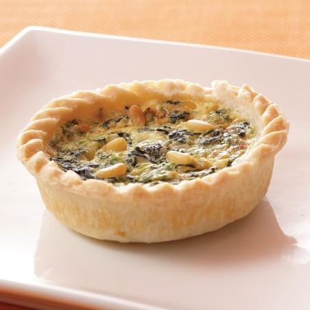 Spinach & Pignoli Nut Quiche (individual)