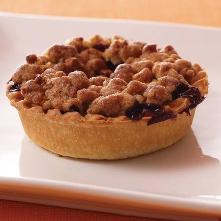 Frozen Sweet Blueberry Crumble Pie (individual)